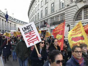 Day-Mer marched against racism in London