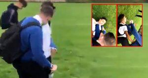 Suriyeli çocuğu okulun bahçesinde dövdüler