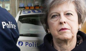 İngiltere Başbakanı May'in konvoyuna araç daldı