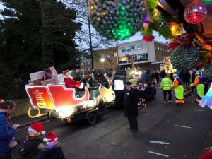 Hundreds gather for Enfield Christmas parade of lights