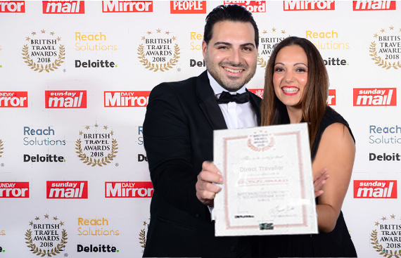 Direct Traveller awarded in British Travel Awards 2018