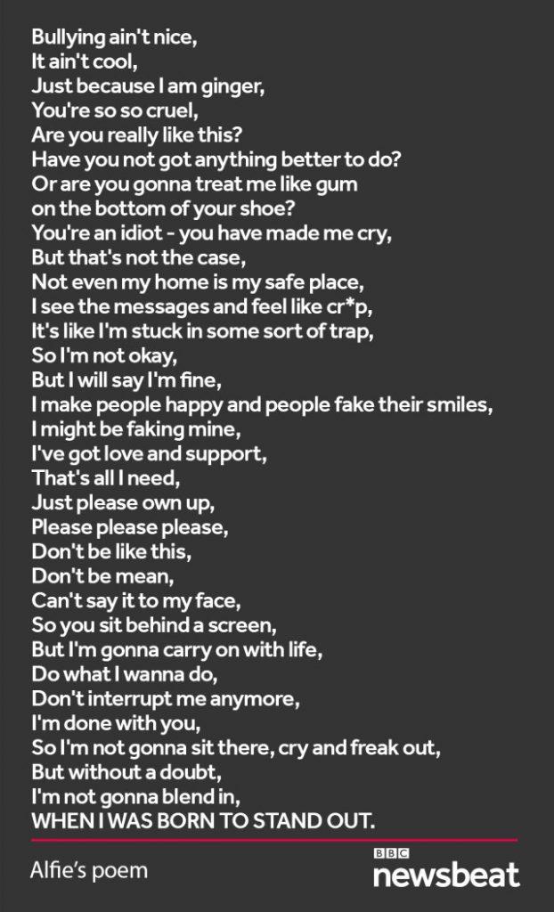 12 yaşındaki çocuk tacizleri şiirle durdurdu