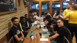Mehmetçik'te yılbaşı yemeği