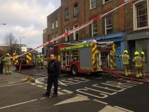 Stoke Newington'da yangın çıktı