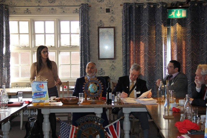 Enfield leader visits Southgate Rotary Club