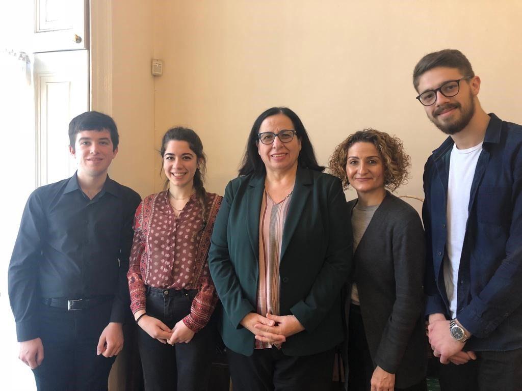 Birleşik Krallık Kıbrıslı Türk Öğrenci Federasyonu Tuncalı'yı ziyaret etti