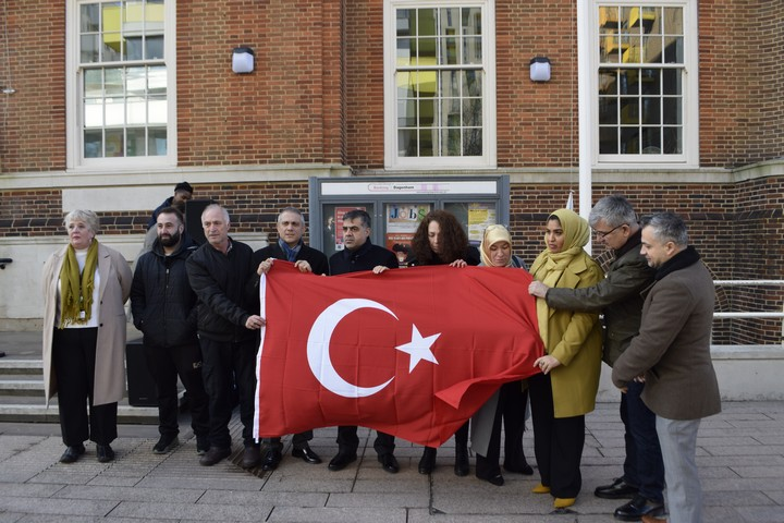 Turkish flag raised outside Barking Town Hall