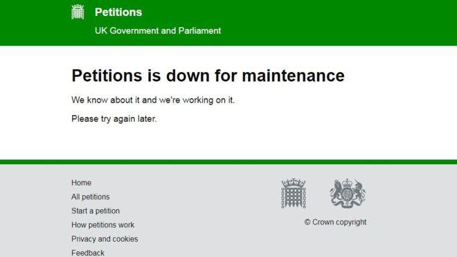 Brexit: Yarım milyondan fazla imza toplandı, site çöktü!