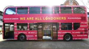 Mayor of London's '#LondonIsOpen' bus is coming to you