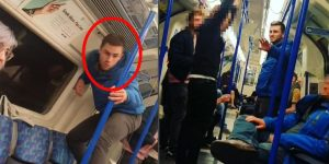 Man filmed acting like a monkey in racist incident