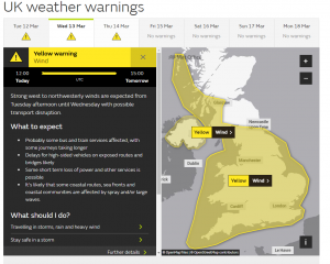 Yellow warning issues as 80 mph winds hit the UK