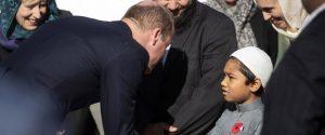 Yeni Zelanda'da Prens William'dan Nur Camisi'ne ziyaret