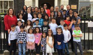 Hornsey Atatürk Türk Okulu Heyeti'nden Oya Tuncalı'ya ziyaret