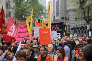 1 Mayıs Emek ve Dayanışma Günü Londra'da kutlandı