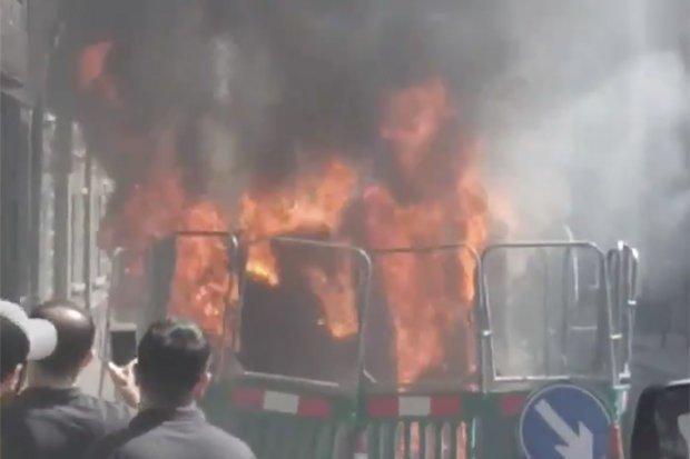 Westminster'da yangın