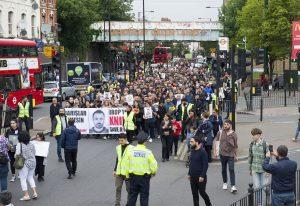 Protesters march for Barış Küçük
