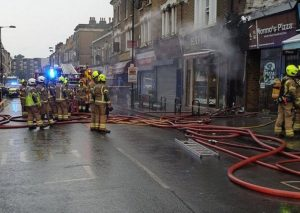 Newington Green'de yangın!