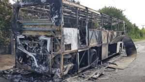 School bus filled with students bursted in flames in Essex
