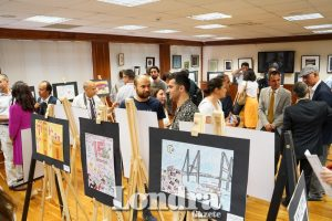 A 15th of July painting exhibition by Turkish students goes on show