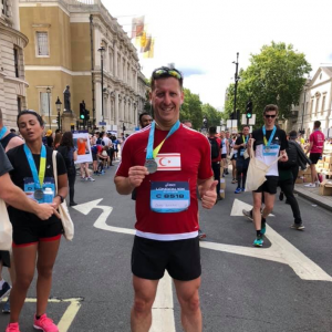 Okan Baysan completes ASICS London 10K run