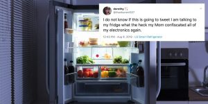 Annesi telefonuna el koydu, akıllı buzdolabından Twitter mesajı gönderdi