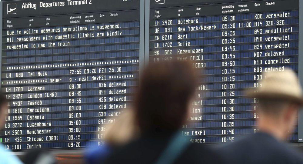 İspanyol yolcu Münih'te 130 uçuşu iptal ettirdi