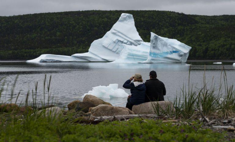 Kanada'da yok olma tehlikesi altındaki buzdağları, turist akınına uğradı