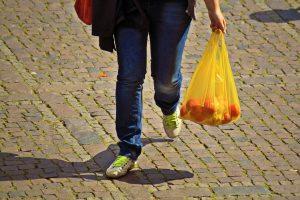Plastic bag sales in England halved in past year