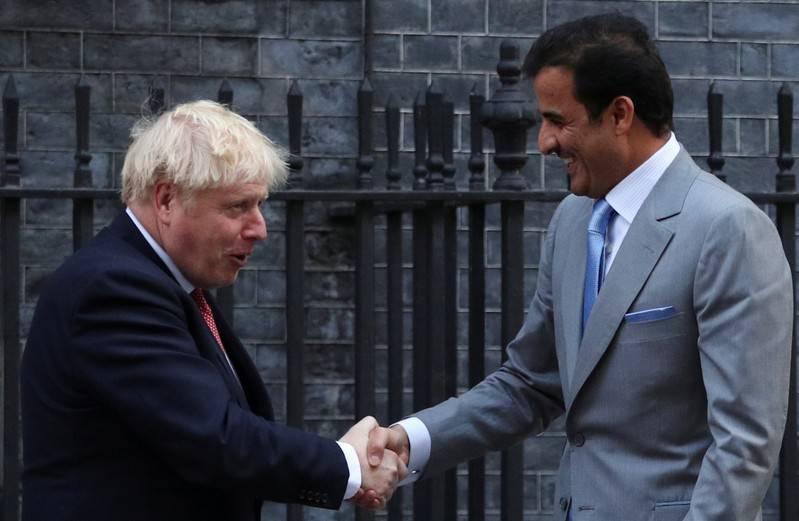 Başbakan Johnson, Katar Emiri Sani ile görüştü