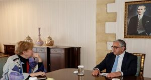 KKTC Lideri Akıncı BM Özel Danışmanı Lute ile bir araya geldi