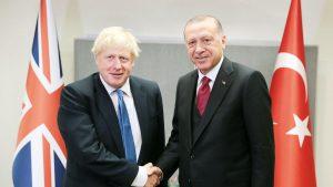 Erdoğan ile Johnson Amerika'da bir araya geldi