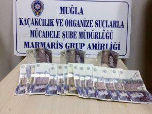 Marmaris'te sahte poundlarla esnafı dolandıran İngiliz vatandaşları yakalandı