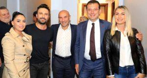 Tarkan, konserine gelen Tunç Soyer ve Ekrem İmamoğlu'na övgü yağdırdı