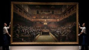 "Banksy'nin ""Devolved Parliament"" 9.8 milyon sterline"