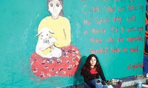 Zehra Doğan Londra'da Ceylan Önkol'u çizdi