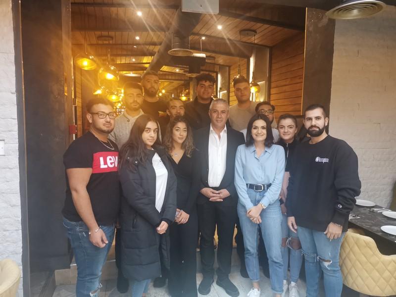 KTGBİ'li gençler KKTC Ekonomi Bakanı Taçoy ile bir araya geldi
