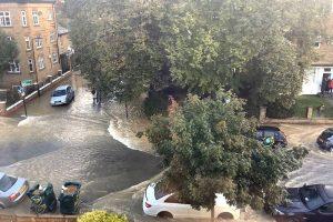 Finsbury Park floods: Evacuations following burst water main