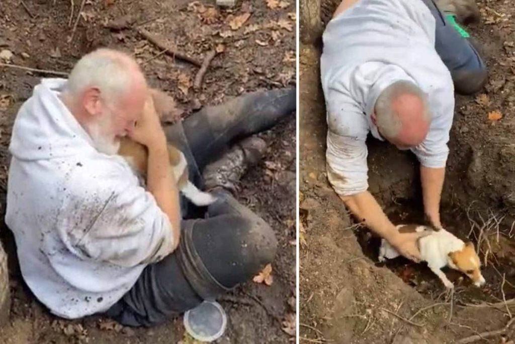 Kaybolan köpeğine kavuşan yaşlı adam gözyaşlarına boğuldu