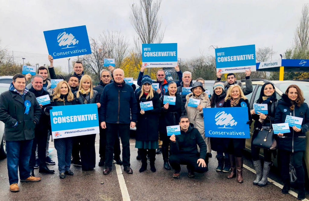 The Turkish Cypriot friends of Conservatives were out campaigning