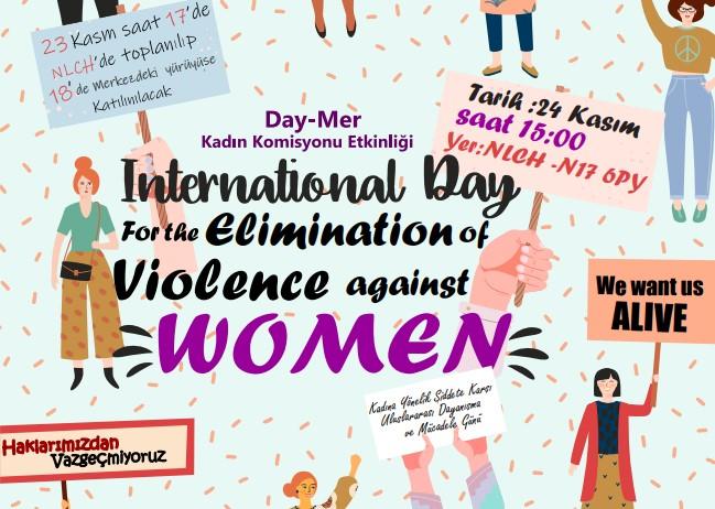 Kadına yönelik şiddete karşı DAY-MER'de program yapılacak
