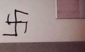 Edmonton'da polis karakolunun duvarına gamalı haç çizildiği ortaya çıktı