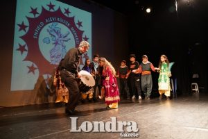 Students from Enfield Alevi Culture Centre performed on stage