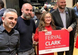 Feryal Clark için Enfield Aksular'da buluştular