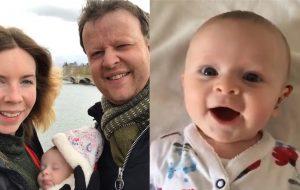 Annesinin sesini ilk kez duyan bebek sevinç çığlığı attı