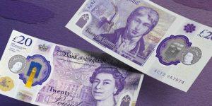 Plastik 20 Poundluk banknotlar Şubat'ta tedavüle giriyor