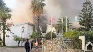 KKTC'deki otelde yangınında İngiliz turist hayatını kaybetti