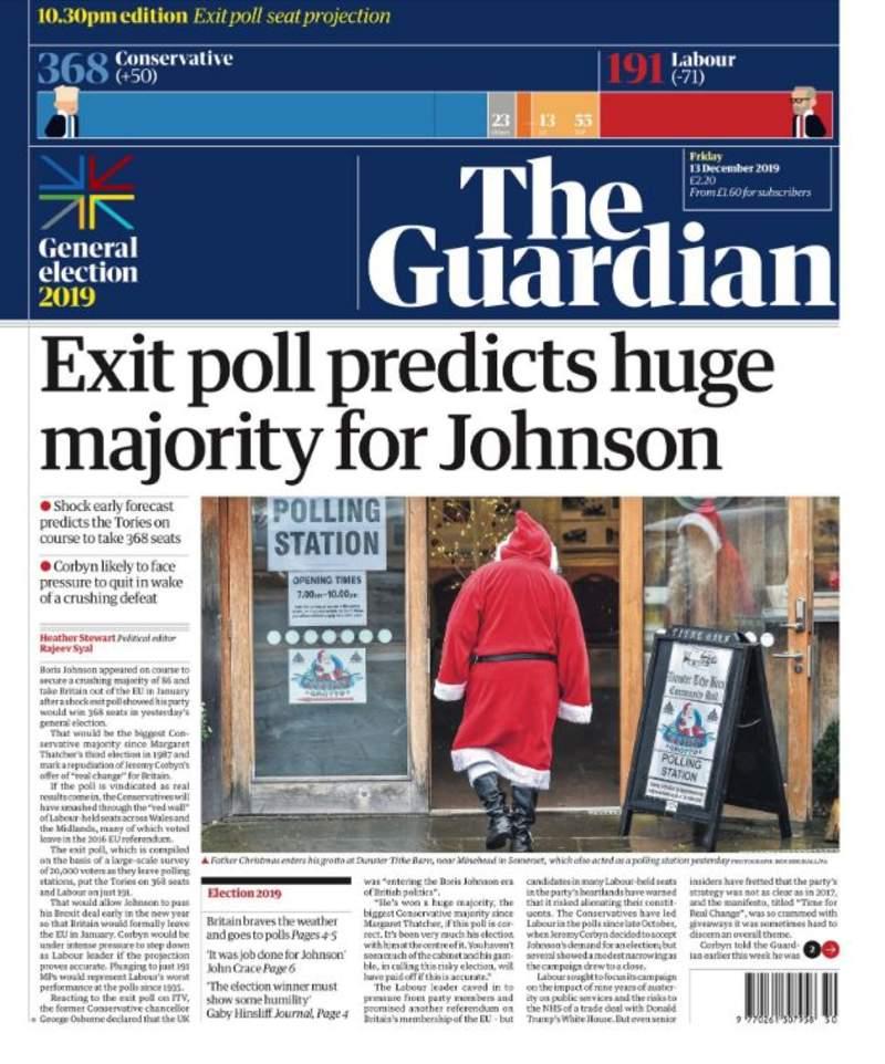 İngiltere basınında ilk seçim sonuçları manşetlere böyle yansıdı