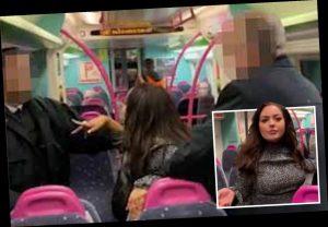 Trende erkek yolcuları taciz eden kadın gözaltına alındı