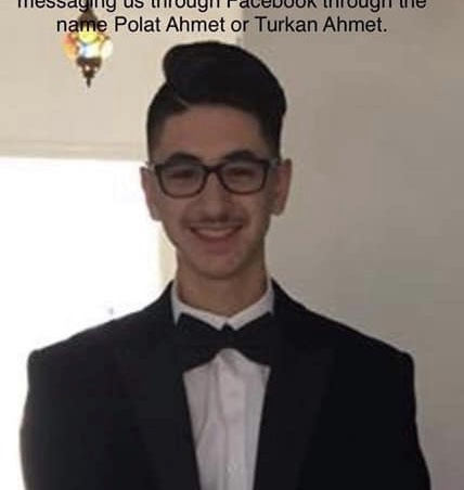 Birmingham kentinde yaşayan gencimiz Ahmet Ahmet kayıp