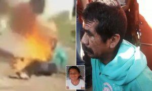 Tecavüz ettiği kızı öldüren adamı benzin dökerek yaktılar